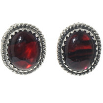 Navajo Red Paua Stud Earrings 28447