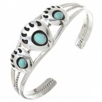 Shadowbox Turquoise Bear Paw Bracelet 22616