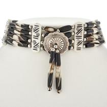 Silver Concho Indian Bone Choker 23408