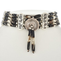 Silver Concho Indian Bone Choker 23408