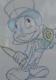 Walt Disney Reproduction Framed Animation Sheets Set of Three
