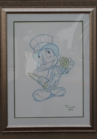 Walt Disney Reproduction Framed Animation Sheets Set of Three