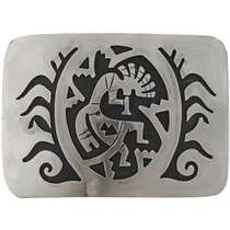 Kokopelli Silver Belt Buckle 24074