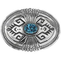Kingman Turquoise Silver Buckle 26252