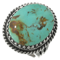Genuine Turquoise Silver Ring 27807