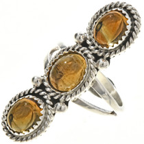 Navajo Citrine Silver Ladies Ring 29107