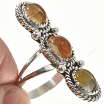 Pointer Three Stone Ladies Ring 29107
