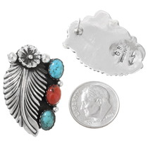 Authentic Navajo Silver Earrings 26666