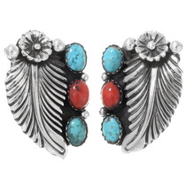 Turquoise Coral Earrings 26666