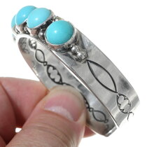 Authentic Navajo Lenora Begay Turquoise Bracelet 24796