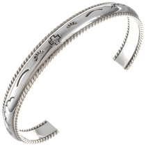 Navajo Hammered Silver Cuff Bracelet 24785