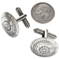 Navajo Southwest Sterling Cuff Links 20878