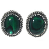 Navajo Green Paua Shell Earrings 28444