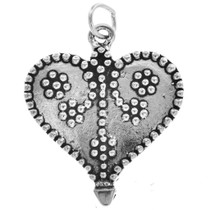Sterling Silver Heart Charm 35429