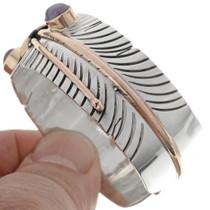 Navajo Gold Silver Cuff Bracelet 27478