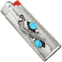 Turquoise Silver Lighter Case 27605