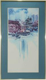 Navajo Weaver Framed Print 27342