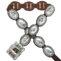 Turquoise Silver Concho Belt 24209
