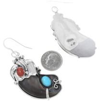 Navajo Bear Claw Earrings 21026
