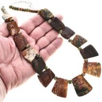 Jasper Unakite Beads Necklace 29054