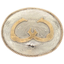 Double Horseshoe Belt Buckle 32666