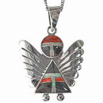 Southwest Inlaid Angel Pendant with Chain 29522