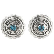 Kingman Turquoise Silver Post Earrings 27322