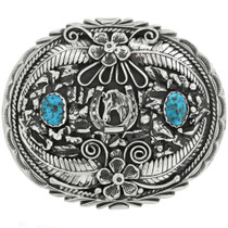 Turquoise Belt Buckle Lucky Horseshoe 24389