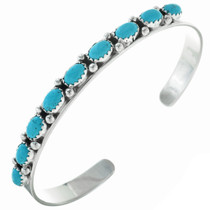 Native American Turquoise Row Bracelet 28926