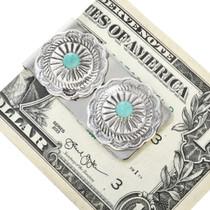 Silver Concho Navajo Money Clip 24738