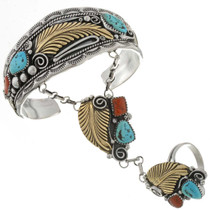 Silver Gold Attached Bracelet 24671