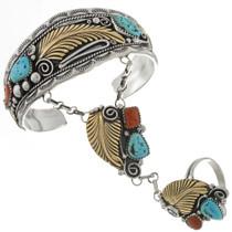 Silver Gold Attached Bracelet 24671