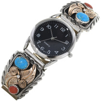 Navajo Turquoise Coral Watch 24498