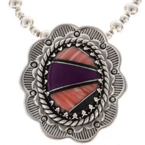Inlaid Southwest Silver Pendant 25552