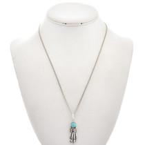 Kingman Turquoise Silver Kachina Pendant 29262