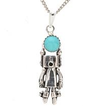 Native American Kachina Turquoise Pendant 29262