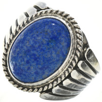 Lapis Silver Mens Ring 23453