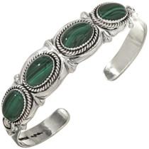 Malachite Silver Navajo Bracelet 29417