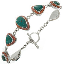 Turquoise Silver Tennis Bracelet 23774