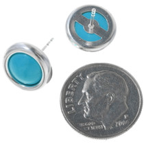 Navajo Turquoise Stud Earrings 26310