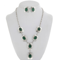 Navajo Malachite Y Necklace 27766