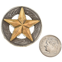 Silver Gold Texas Star Concho 35179