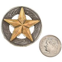 Silver Gold Texas Star Concho 35179