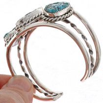 Ladies Turquoise Sterling Bracelet 25318