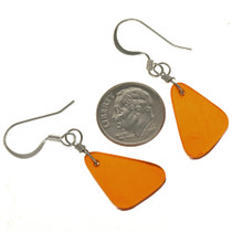 Amber Color Dangle Earrings 23799