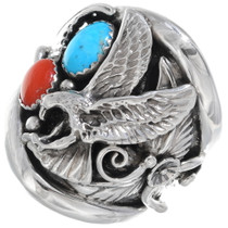 Navajo Turquoise Handmade Ring 22739