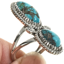 Ladies Turquoise Pointer Ring 28519