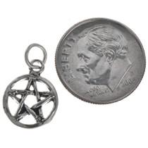 Sterling Silver Pentagram Charm Bracelet Charm Pendant Necklace