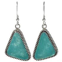 Turquoise Silver Navajo Earrings 29245