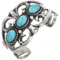 Navajo Turquoise Silver Bracelet 29311